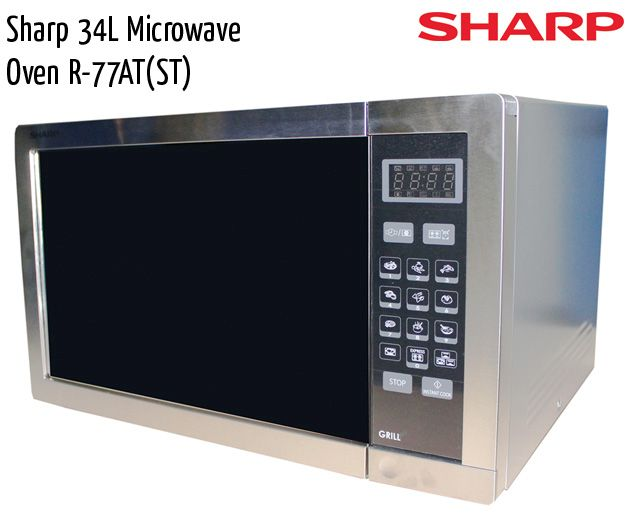 sharp microwave oven r77at st