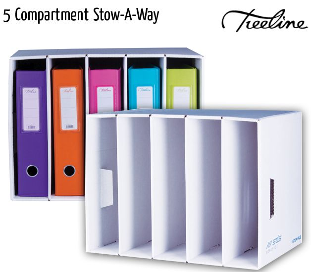 treeline 5 compartment stow a way white