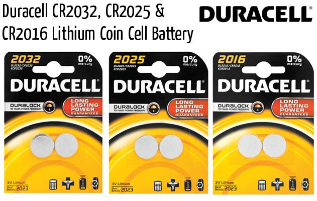 duracell lithium coin cell battery