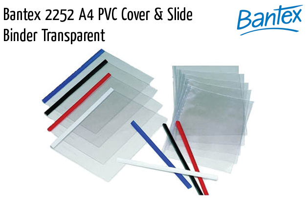 bantex 2252 a4 pvc cover slide binder transparent