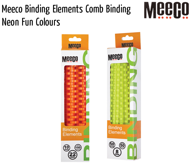 meeco binding elements comb binding neon fun colours
