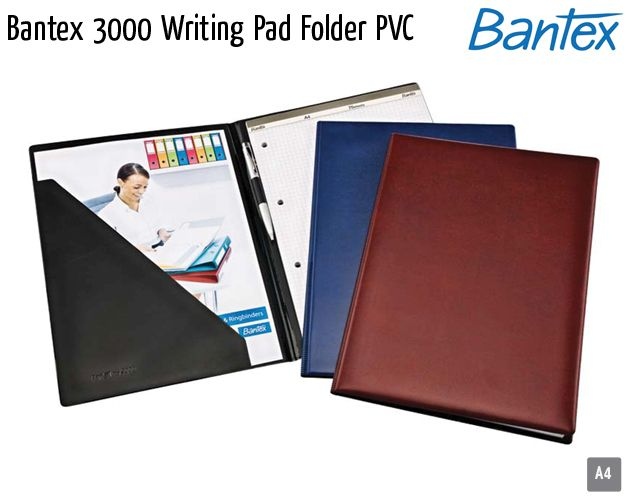 bantex 3000 writing pad folder pvc