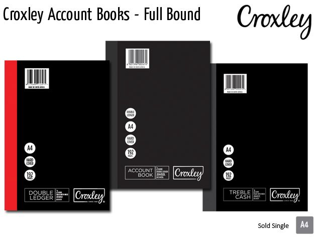croxley account books full bound jd455