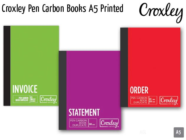 croxley pen carbon books a5 printed