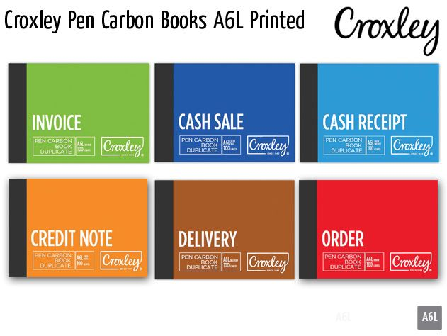 croxley pen carbon books a6l printed
