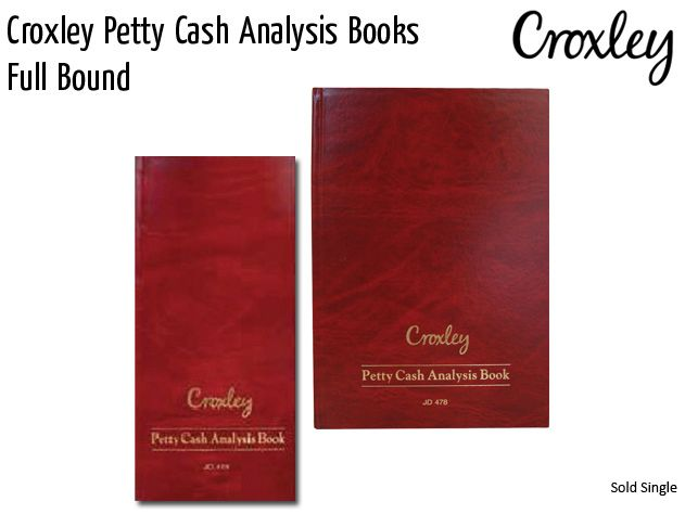 croxley petty cash analysis books