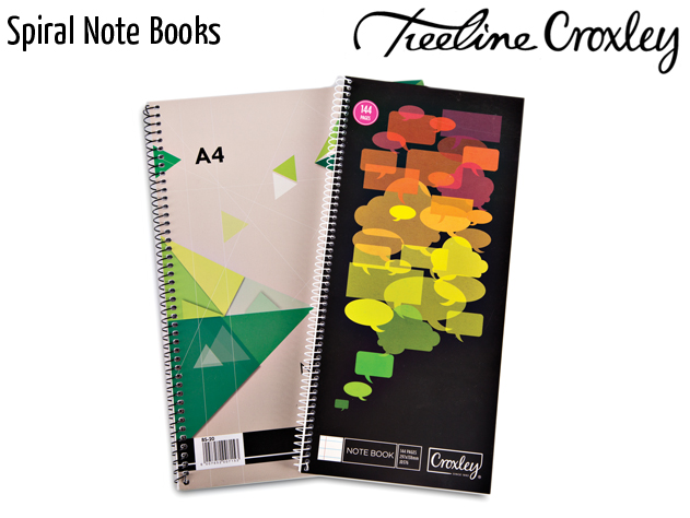 croxley spiral note books