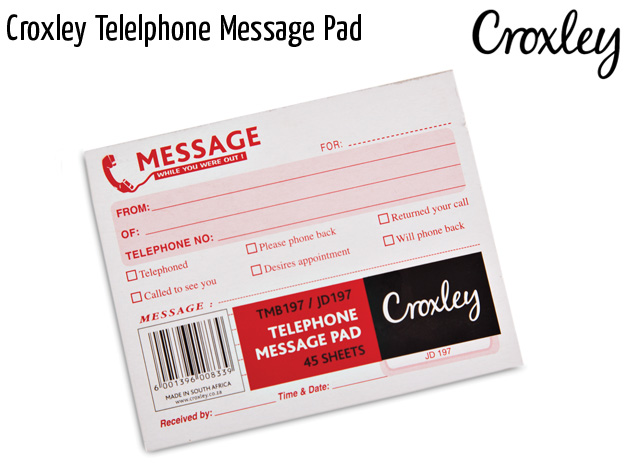 croxley telelphone message pad