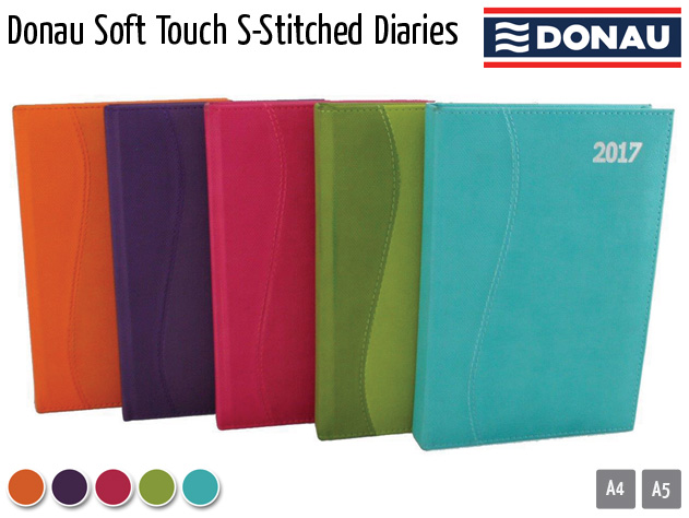 donau soft touch s stitched diaries