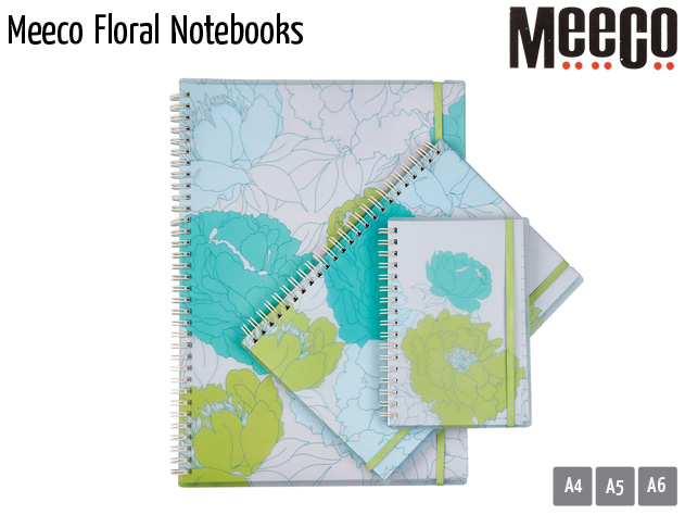 meeco floral notebooks