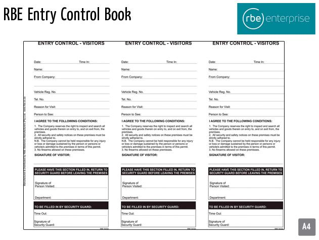 rbe entry control book 2