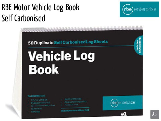 rbe motor vehicle log book