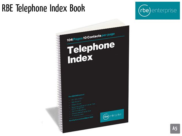 rbe telephone index book