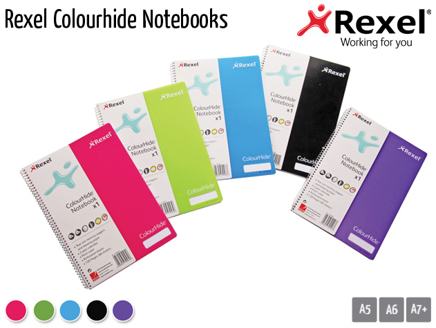 rexel colourhide notebooks