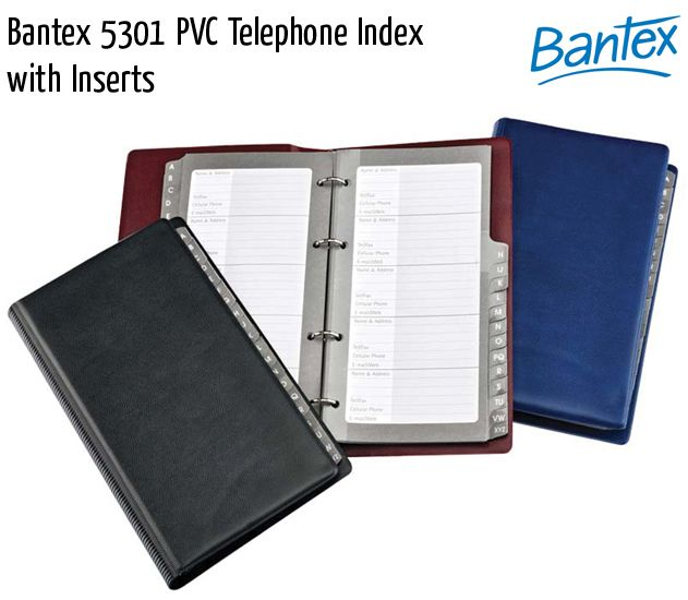 bantex 5301 pvc telephone index