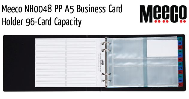 meeco nh0048 pp a5 business card