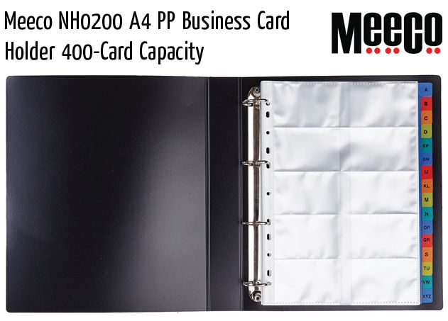 meeco nh0200 a4 pp business card