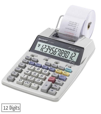 sharp el 1750v printing calculator main
