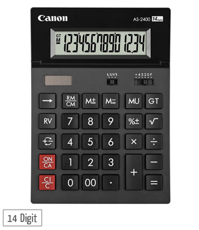 canon as 2400 desktop calculator