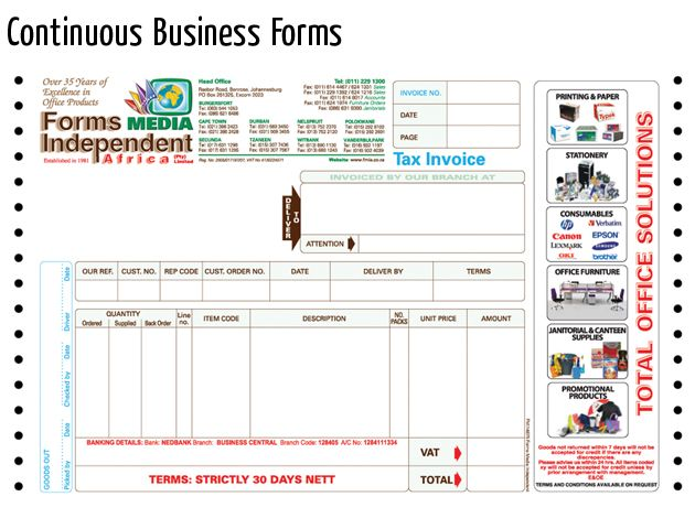 continuous business forms