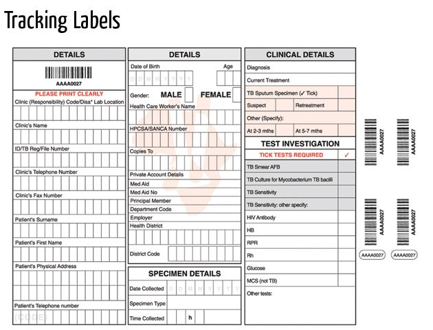 tracking labels