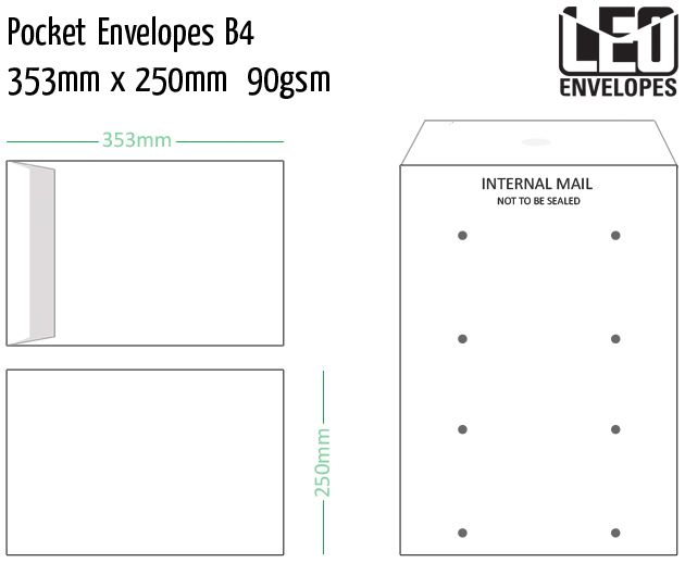 pocket envelopes b4