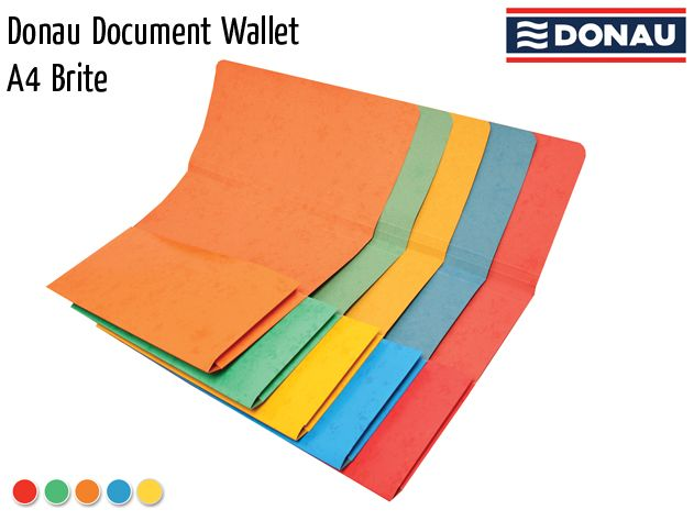 donau document wallet a4 brite