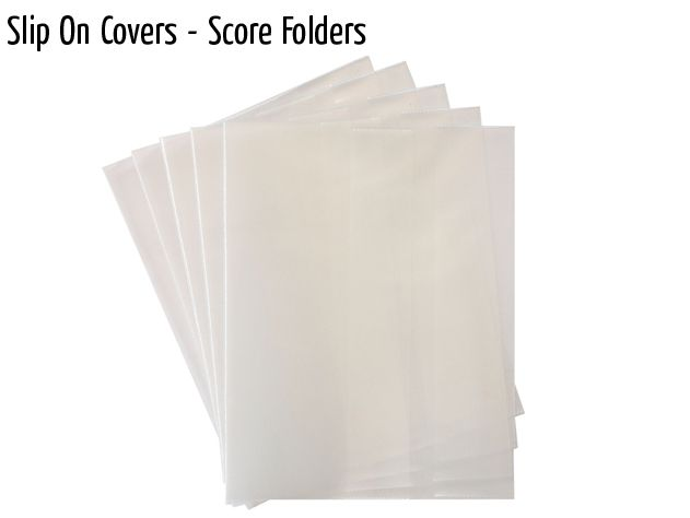 slip on covers score folders