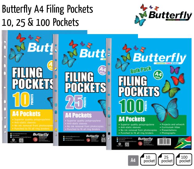 butterfly a4 filing pockets