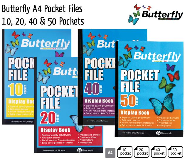 butterfly a4 pocket files
