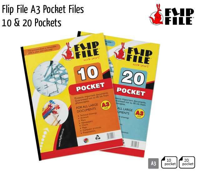 flip file a3 pocket files