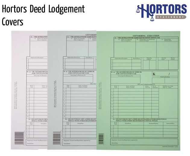 hortors deed lodgement covers
