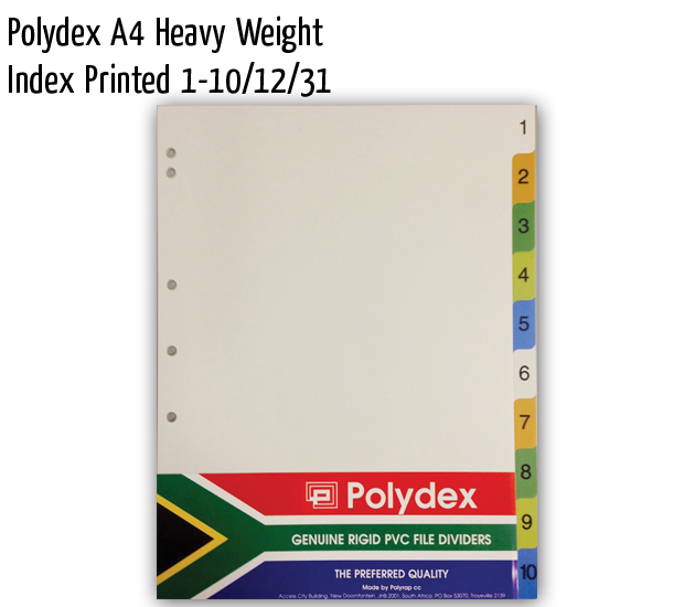 polydex a4 hw index printed 1 10 12 31
