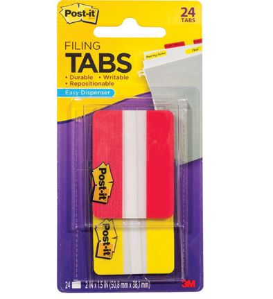 686 2ry post it durable filing tabs