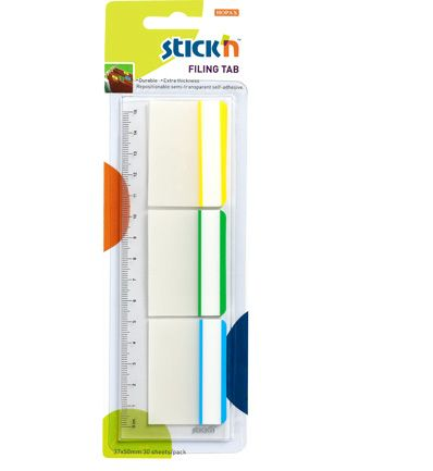 stick n framed filing tabs