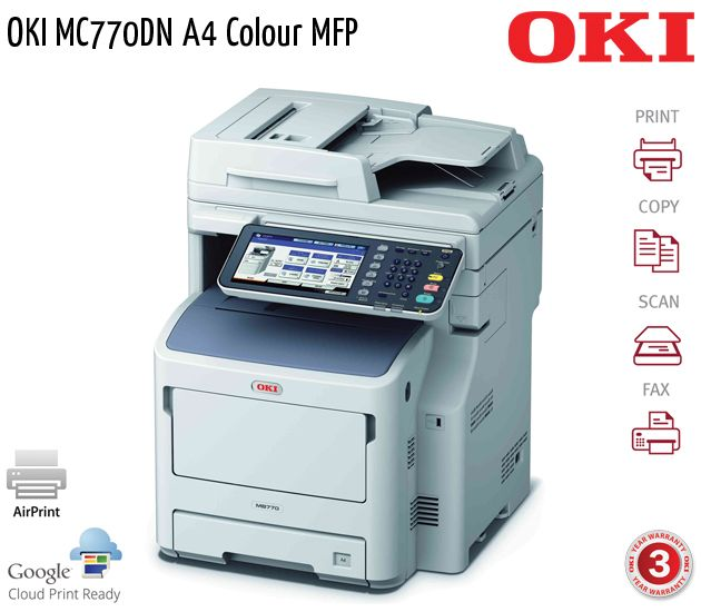 oki mc770dn a4 colour mfp