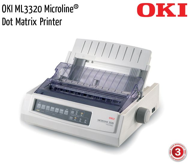 oki ml3320 microline dot matrix printer