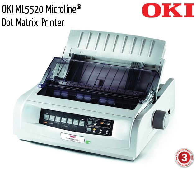 oki ml5520 microline dot matrix printer