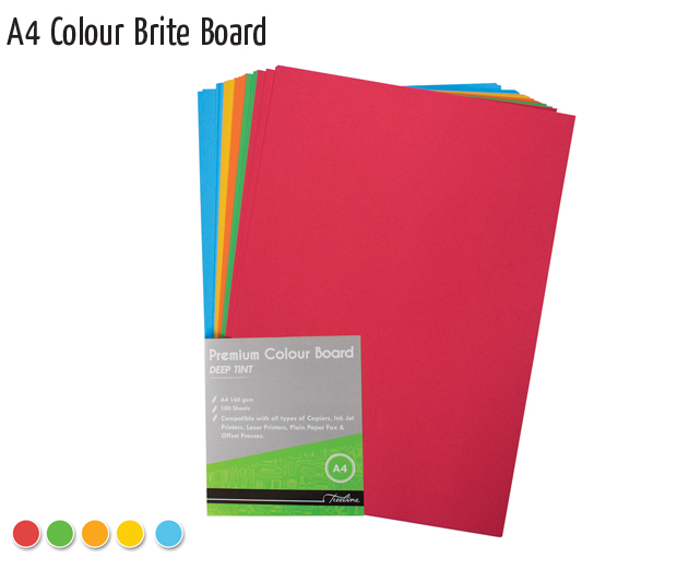 a4 colour brite board