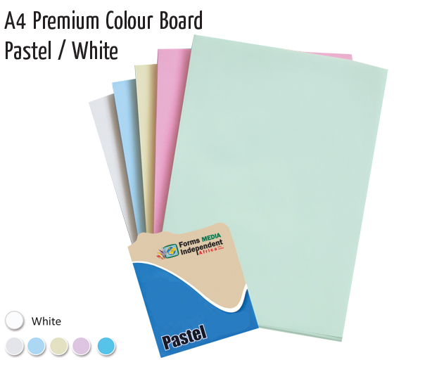 a4 premium colour board pastel white