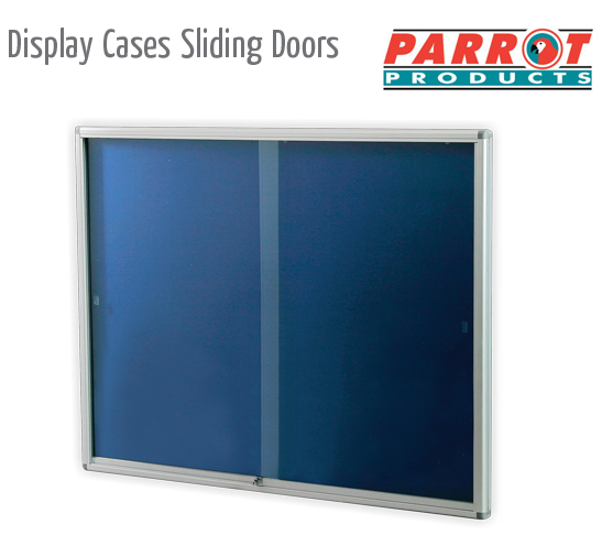 display cases sliding doors