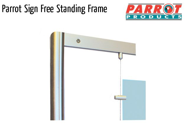 parrot mf sign free standing frame