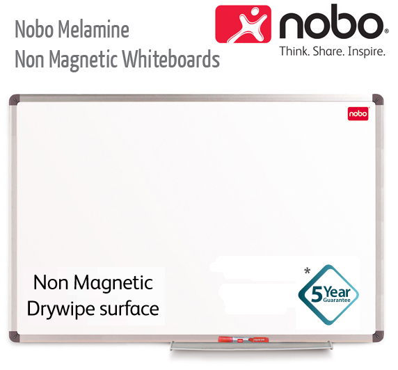 nobo melamine non magnetic whiteboards