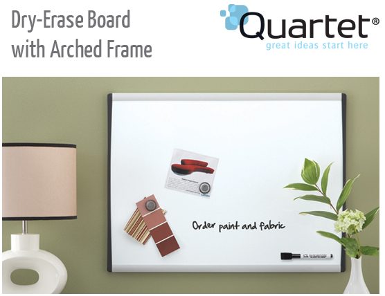 dry erase with arched frame
