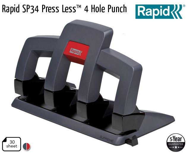 rapid sp34 press less 4 hole punch