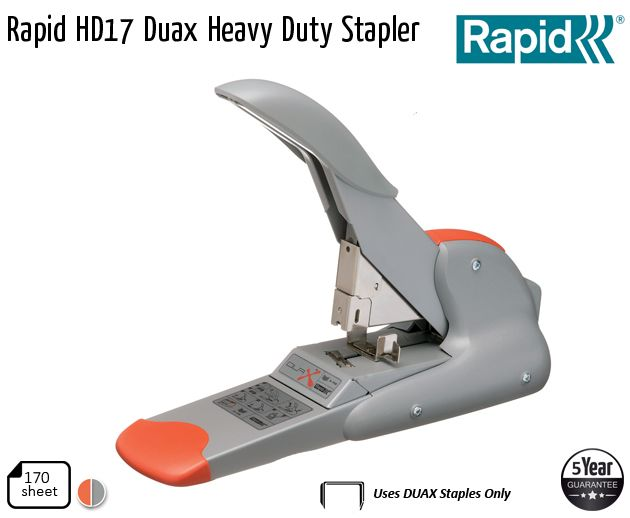 rapid hd17 duax heavy duty stapler