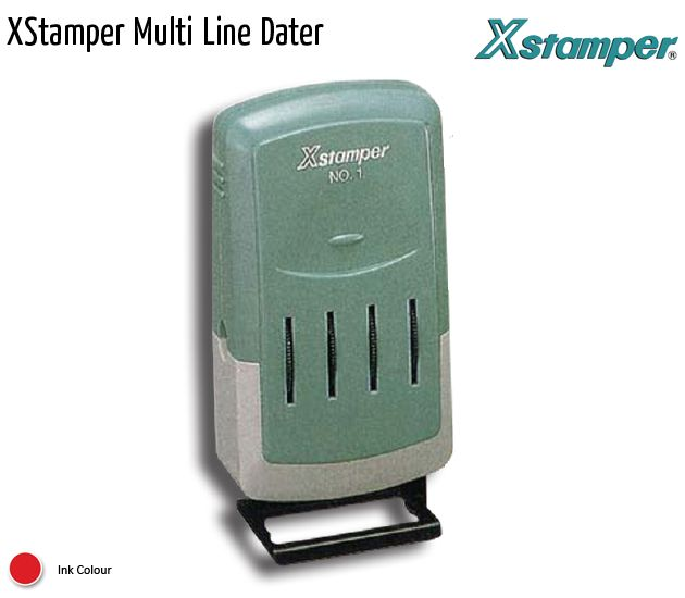 xstamper multi line dater
