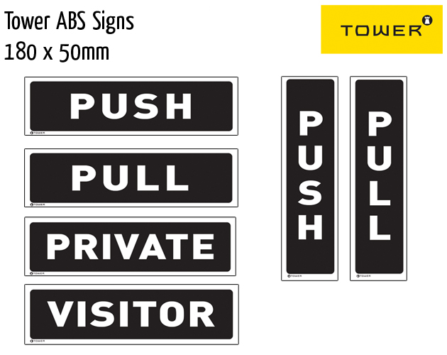 tower abs signs 180x50