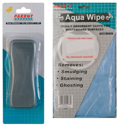parrot whiteboard eraser aqua wipes
