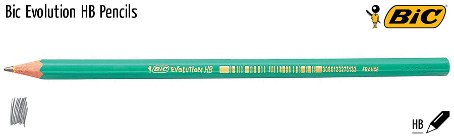 pencils bic evolution hb